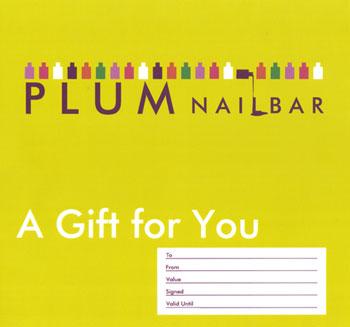 Plum Nail Bar Gift Voucher