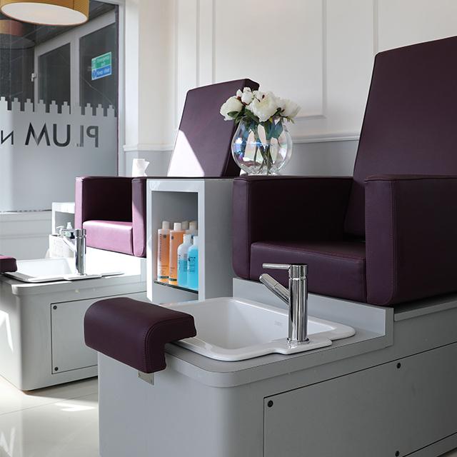 Plum Nail Bar Pedicure chairs